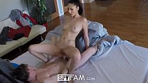 SpyFam Step sister Ariana Marie gets curious about step brother cock