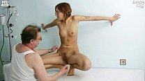 Jane pussy gaping on gyno chair at clinic during speculum