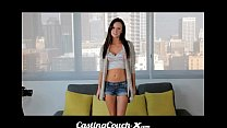 CastingCouch X - Slut shows her tight pussy on cam