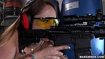 Remy LaCroix Shooting Guns