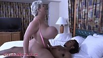 Huge Titty White Cow Takes Black Cock
