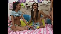 Amazing Latinas Alexis Love and Daisy Marie are sharing big cock