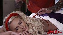 Amazing teen Emma Hix gets full treatment from her masseur