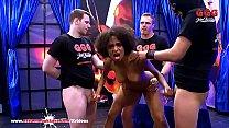 Sexy ebony Latina Luna Corazon moans in pleasure - Extreme Bukkake