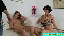 Mature couple threeway with stepdaughter