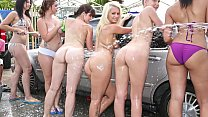 COLLEGE RULES - Car Wash Orgy With Sexy Young Teen Students