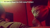 Ebony gagging up spit while deepthroating bbc