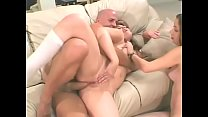 Two young chicks Gia Paloma and Lola Dita share a big cock