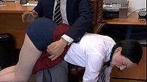 Schoolgirl  Spanked by Headmaster