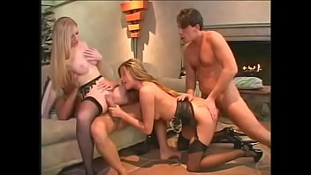 Blond MILFS Monica Sweetheart and Michelle B get into a wild foursome