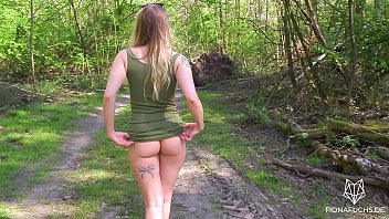 Amazing teen with big ass gets fucked in the forest | POV Fiona Fuchs