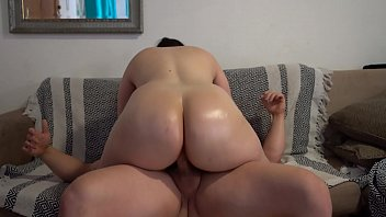Big Butt Pawg with Oiled up Ass and Fuck Assjob Cum