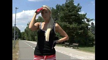 Gorgeous Blonde Takes Cash for Public Fuck