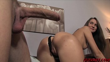 Young babe Mika ass fucked by monster white cock and facial