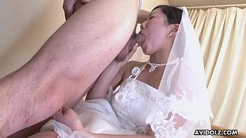 Sweet Japanese woman Emi Koizumi swallows a hairy hard dick