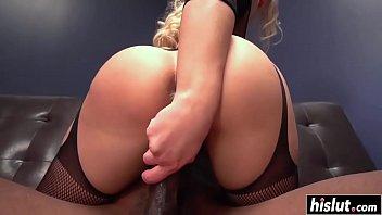 Anikka fucking and sucking on black cock