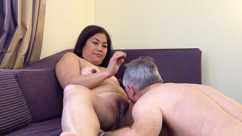 Asian Nurse being serviced for Birthday treat