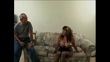 Chunky brunette in sexy lingerie Nikki Santana gets pounded by two guys