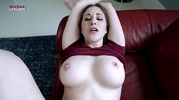 Fucking My Step Mom With Huge Boobs While she is Stuck to the Couch - Aimee Cambridge