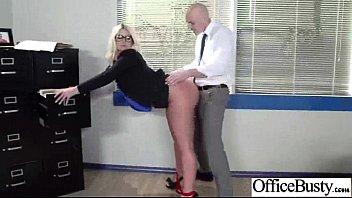 Big Melon Tits Girl (julie cash) Enjoy Hardcore Sex In Office video-26