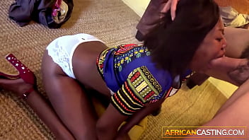 Hot Black Girl Becomes Face Fuck Toy on Casting