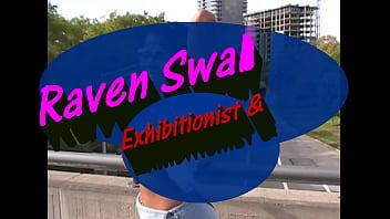 Ohgirl Raven Swallows public flashing