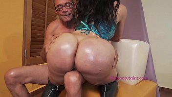 Lorey Richi Has That Big TS Booty Oiled and Fucked
