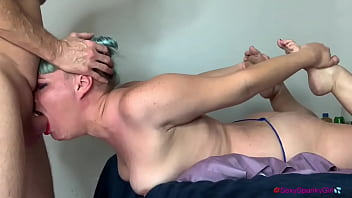 Extreme Throat Fuck for Step Daughter with Throat Bulge