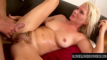 Blondes Love Dick - Bushy Kathy Anderson Swaps Her Dildo for a Real Cock