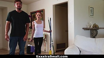 ExxxtraSmall - Petite Maid (Angel Smalls) Gets Fucked For Money